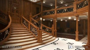 Grand staircase on Titanic II Blue Star Line