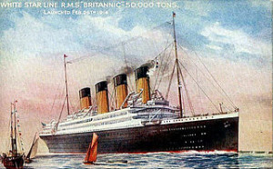 The Britannic was the third in the Olympic series, after the Titanic, and was appropriated by the British government as a hospital ship.