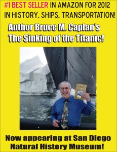 A promotional poster for Bruce Caplan's appearance in San Diego