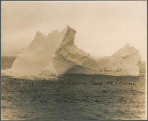The iceberg which may have sunk the Titanic. Which hit which?