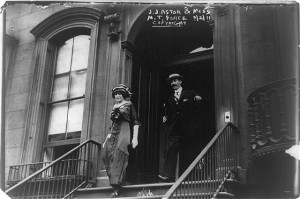 John Jacob Astor and his teenage bride in New York prior to their fateful voyage.