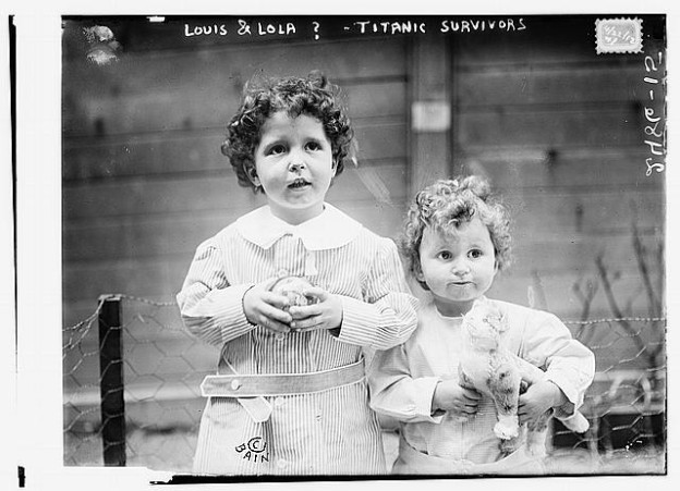 Louis and Lolo, orphans of the Titanic --- or so it was believed until their mother saw the photo.