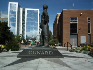 This statute honors Samuel Cunard the founder of the steamship line. No one will ever see a similar statute to Samuel Carnival or whoever founded Carnival unless that guy erects it himself.