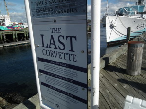The last Corvette of the Canadian Navy from WWII is on display in Halifax harbor for public tours.